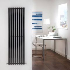 Radiatore di Design Verticale  - Nero - 1600mm x 472mm x 56mm - 1122 Watt - Revive
