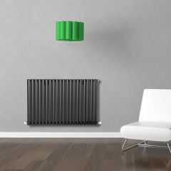 Radiatore di Design Orizzontale  - Nero - 635mm x 1180mm x 56mm - 1194 Watt - Revive