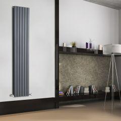 Radiatore di Design Verticale Doppio - Antracite - 1780mm x 354mm x 72mm - 1448 Watt - Sloane