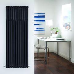Radiatore di Design Verticale Doppio - Nero - 1600mm x 590mm x 78mm - 2047 Watt - Revive