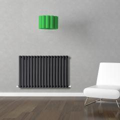Radiatore di Design Orizzontale  - Nero - 635mm x 1000mm x 55mm - 1015 Watt - Revive