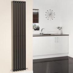 Radiatore di Design Verticale - Nero Lucido - 1780mm x 354mm x 56mm - 892 Watt - Revive