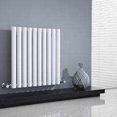 Radiatore di Design Orizzontale  - Bianco - 635mm x 595mm x 55mm - 597 Watt - Revive