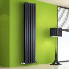 Radiatore di Design Verticale Doppio - Nero - 1780mm x 420mm x 86mm - 1618 Watt - Rombo