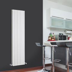 Radiatore di Design Verticale Doppio - Bianco - 1600mm x 472mm x 72mm - 1591 Watt - Sloane