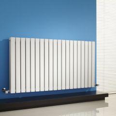 Radiatore di Design Orizzontale Doppio - Bianco - 635mm x 1180mm x 71mm - 1867 Watt - Sloane