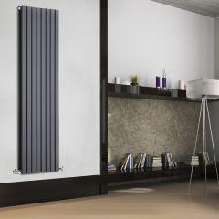 Radiatore di Design Verticale Doppio - Antracite - 1780mm x 472mm x 72mm - 1931 Watt - Sloane