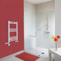 Radiatore Scaldasalviette Misto Curvo - Cromato - 700mm x 400mm x 38mm - 187 Watt - Ischia