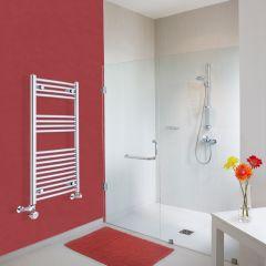 Radiatore Scaldasalviette Misto Curvo - Cromato - 1000mm x 500mm x 45mm - 360 Watt - Ischia