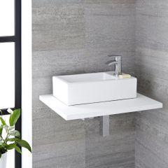 Lavabo Bagno da Appoggio in Ceramica Rettangolare 450x250mm - Sandford