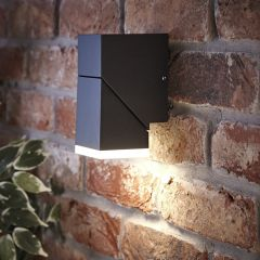 Biard Applique Murale LED Orientabile Luce Ascendente o Discendente Colore Nero - Ziersdorf