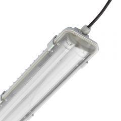 Plafoniera Stagno Impermeabile IP65 665 x 118 x 83mm con 2 Tubi LED 36W