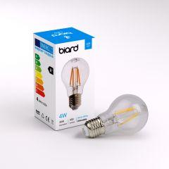 Biard Kit con 6 Lampadine LED con Filamenti LED E27 4W Dimmerabili