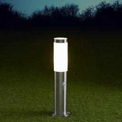 Biard Paletto LED da Esterno 6W in Acciaio Inox con Sensore di Movimento 450mm con Lampadina E27- Le Mans