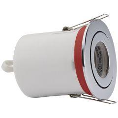 Biard Faretto LED da Incasso GU10 Orientabile IP20 Protezione Ignifuga con Porta Faretto Circolare Disponibile in 3 Colori