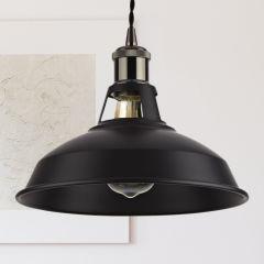 Biard Lampada a Sospensione in Stile Moderno Ferro con Finitura Nera - Dalston