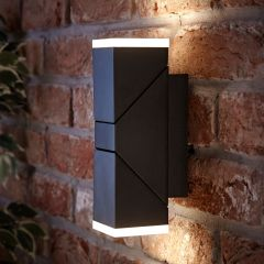 Biard Applique Murale LED Orientabile Quadrato Luce Ascendente o Discendente Colore Nero - Ziersdorf