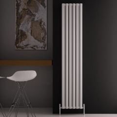 Radiatore di Design Verticale Doppio - Bianco - 1800mm x 350mm x 76mm - 1502 Watt - Revive Air