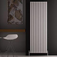 Radiatore di Design Verticale Doppio - Bianco - 1800mm x 590mm x 76mm - 2506 Watt - Revive Air