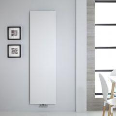 Radiatore di Design Verticale - Piastra Radiante - Attacchi Centrali - Acciaio - Bianco - 1800mm x 500mm - 1123 Watt - Rubi