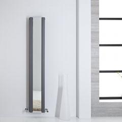 Radiatore di Design - Verticale Con Specchio - Antracite - 1600mm x 265mm - 789 Watt - Sloane