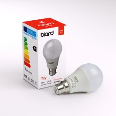 Biard Kit con 6 Lampadine LED B22 7W Dimmerabile