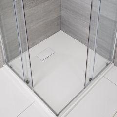 Piatto Doccia Quadrato Effetto Pietra Colore Bianco Opaco 900mm