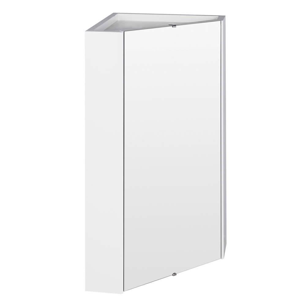 Specchio Per Lavandino Angolare specchio contenitore bagno bianco ad angolo