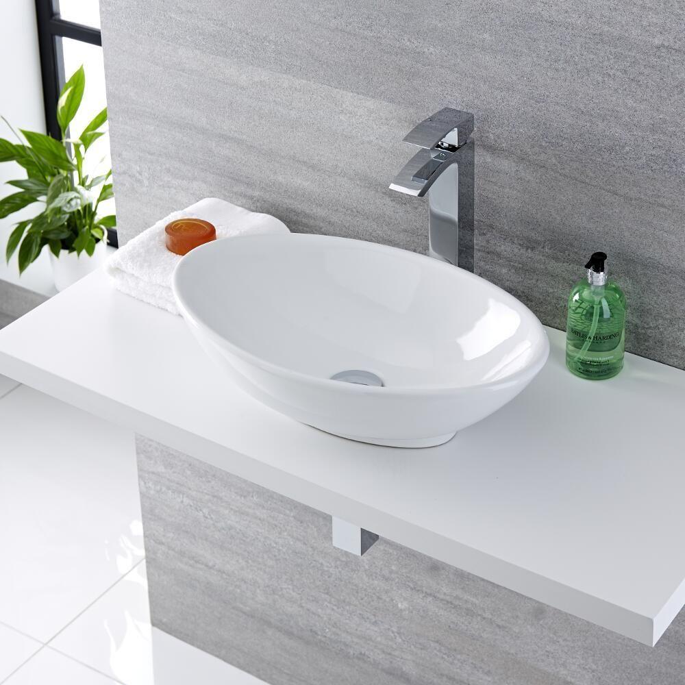 Lavello Cucina In Porcellana moderno lavabo rotondo da appoggio in ceramica lavabo lavabo