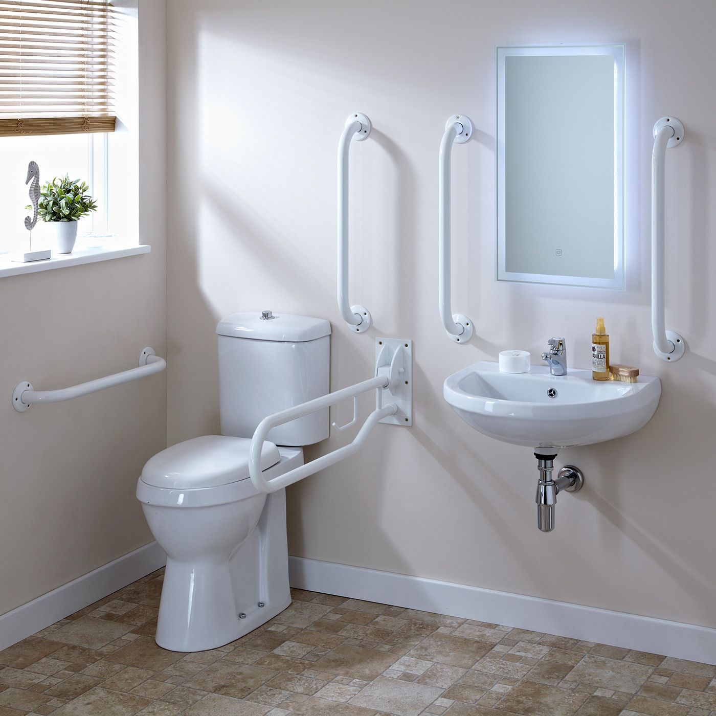 Set Bagno Completo di Lavabo e Sanitario per Disabili