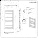 Radiatore Scaldasalviette Elettrico Curvo - Cromato - 800mm x 600mm - Eco