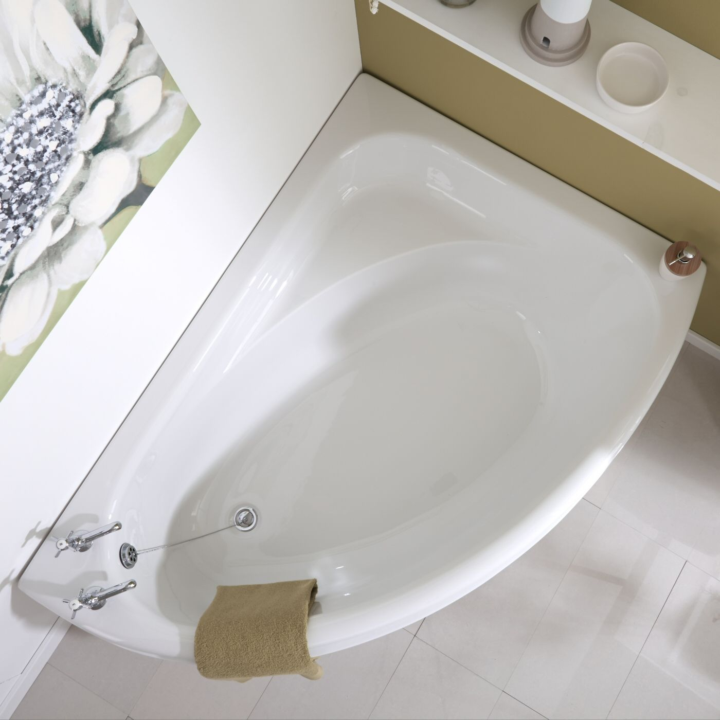 Vasca da Bagno 150x102cm in Acrilico Versione Angolare Destra con ...