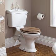 Sanitario a Terra in Stile Retrò Classico con Vaso e Cisterna in Ceramica e Sedile Tradizionale - Ryther