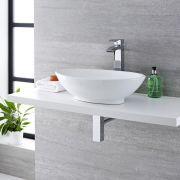 Lavabo Bagno da Appoggio Ovale 520x320mm in Ceramica - Kenton