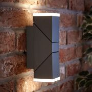Biard Applique Murale LED Ascendente/Discendente Orientabile Quadrato Antracite - Ziersdorf