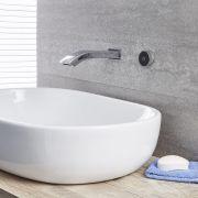 Erogatore Murale Cromato Per Lavabo Bagno o Vasca Completo di Controllo Digitale - Razor
