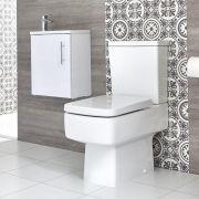 Sanitario WC Monoblocco e Mobile Bagno Sospeso con Lavabo Snello Exton 400mm - Diverse Finiture Disponibili