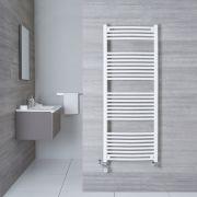 Radiatore Scaldasalviette Misto Curvo - Bianco - 1500mm x 600mm x 50mm - 942 Watt - Etna