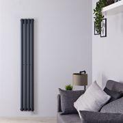 Radiatore di Design Elettrico Verticale - Antracite - 1600mm x 236mm x 56mm  - Elemento Termostatico  800W  - Revive