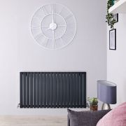 Radiatore di Design Orizzontale  - Antracite - 635mm x 1180mm x 53mm - 1203 Watt - Sloane