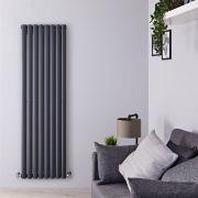 Radiatore Design Verticale Antracite Disponibile in Diverse Misure - Revive