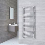 Radiatore Scaldasalviette Curvo - Cromato - 1500mm x 600mm x 50mm - 649 Watt - Ischia