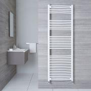 Radiatore Scaldasalviette Curvo - Bianco - 1800mm x 600mm x 50mm - 1122 Watt - Etna