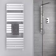 Radiatore Scaldasalviette Elettrico -  Piatto - Cromato - 1512mm x 600mm - Lustro