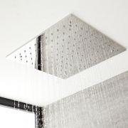 Soffione Doccia da Incasso Quadrato a Soffitto Quadrato 500x500mm Effetto Pioggia in Acciaio Inox – Trenton