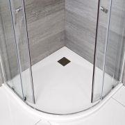 Piatto Doccia Angolare Effetto Pietra Colore Bianco Opaco 900mm - Rockwell