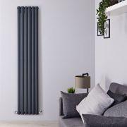 Radiatore di Design Verticale Doppio - Antracite - 1780mm x 354mm x 78mm - 1401 Watt - Revive