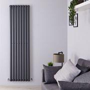 Radiatore di Design Verticale  - Antracite - 1780mm x 472mm x 56mm - 1190 Watt - Revive