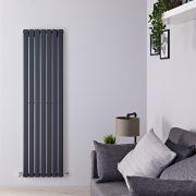Radiatore di Design Verticale  - Antracite - 1780mm x 490mm x 47mm - 1152 Watt - Delta