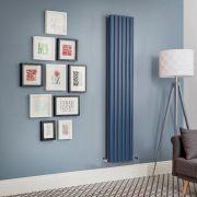 Radiatore di Design Verticale Doppio  - Blu Marino  - Revive - Disponibile in Diverse Misure